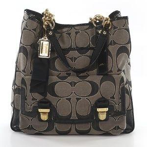 NWT Black Signature C Coach Handbag